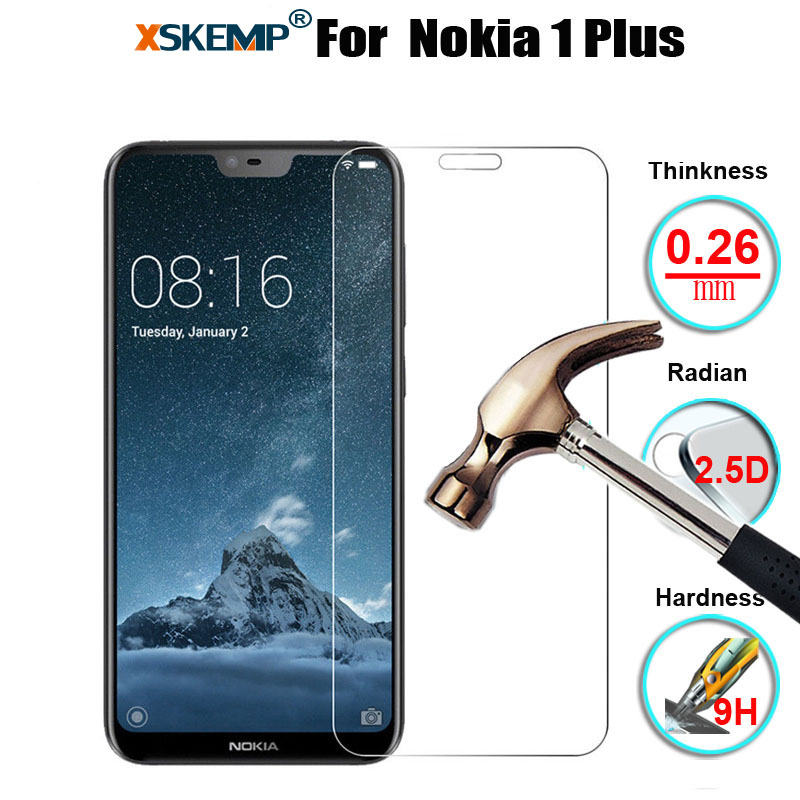XSKEMP Screen-Protector Tempered-Glass Nokia for Genuine Premium Ultra Clear