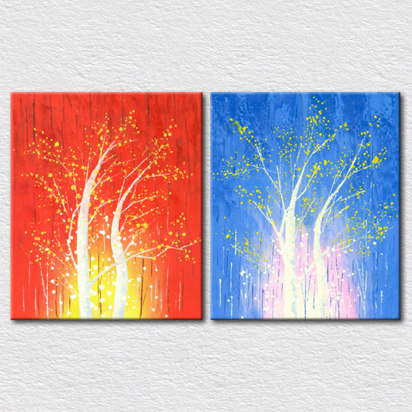 Beautiful Trees Wall Pictures For Living Room High Quality