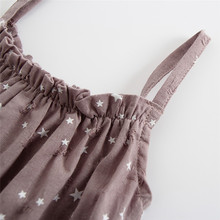 Star Print Princess Rompers+Sun Hat Brief Set Infant Outfit