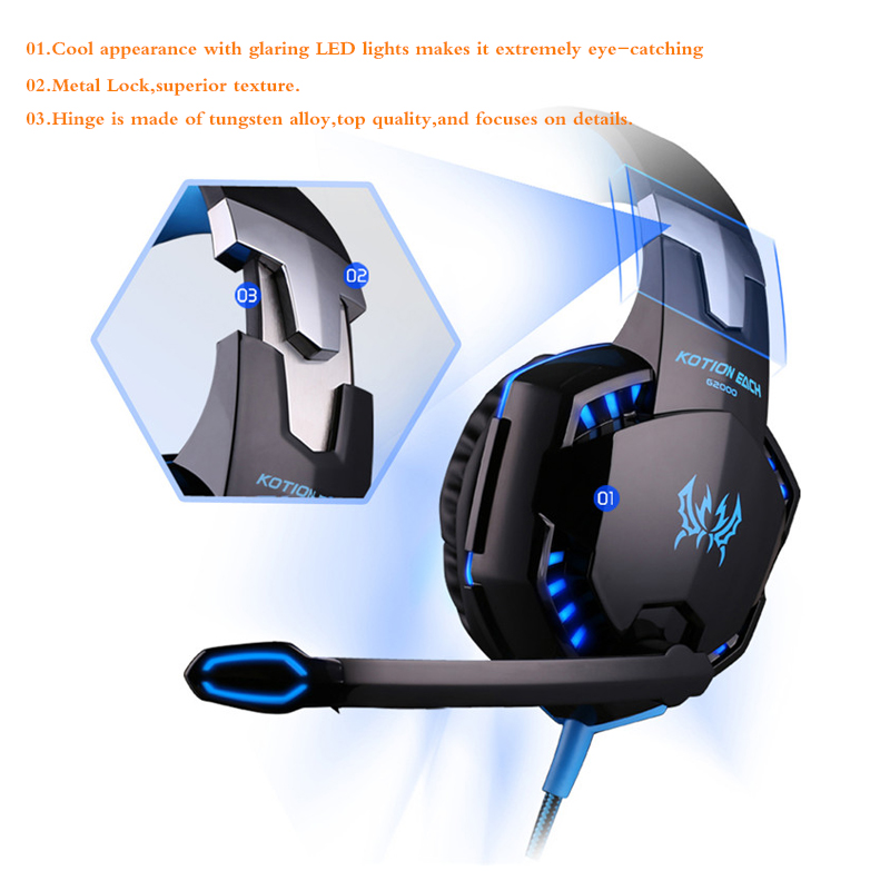 Gaming Headphones G2000 Deep Bass Stereo 4