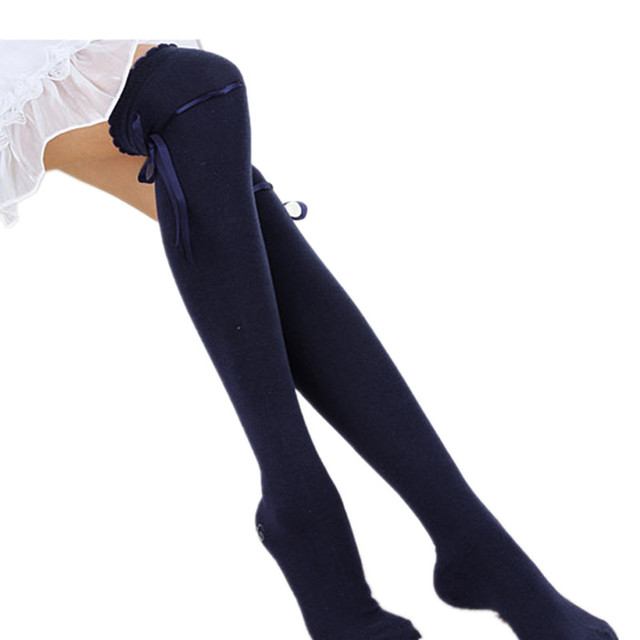 f1146bfa5 Winter Fashion Over Knee Socks Sexy Warm Thigh High Long knit Cotton  Stockings For Girls Ladies
