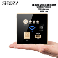 300Mbps AP Wireless Smart Router 220v power supply Relay WIFI booster extender Built in Wall 2.4ghz usb Panel socket SHZJOJ