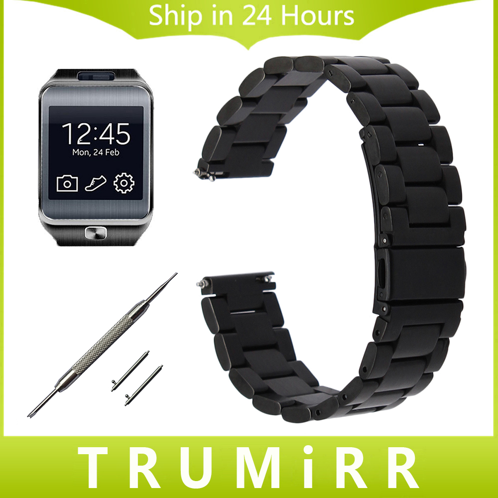 22mm Stainless Steel Watch Band Quick Release Strap for Samsung Gear 2 R380 Neo R381 Live R382 Wirst Bracelet Black Gold Silver