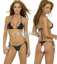 Leatherwear Bikini *1698*sexy Swimwear Swimsuit Boxer Triangle Pajamas Skirt Suit Middle trousers Free Shipping