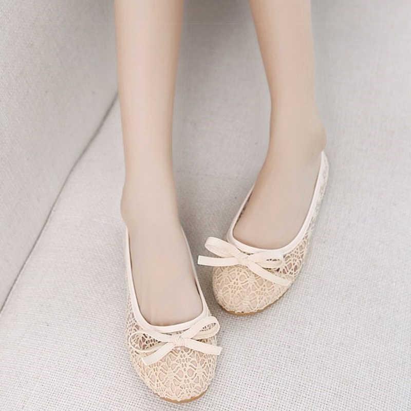 Zapatos de ballet para mujeres Flats recortado cuero breatbale Moccains mujeres barco zapatos bailarina señoras zapatos