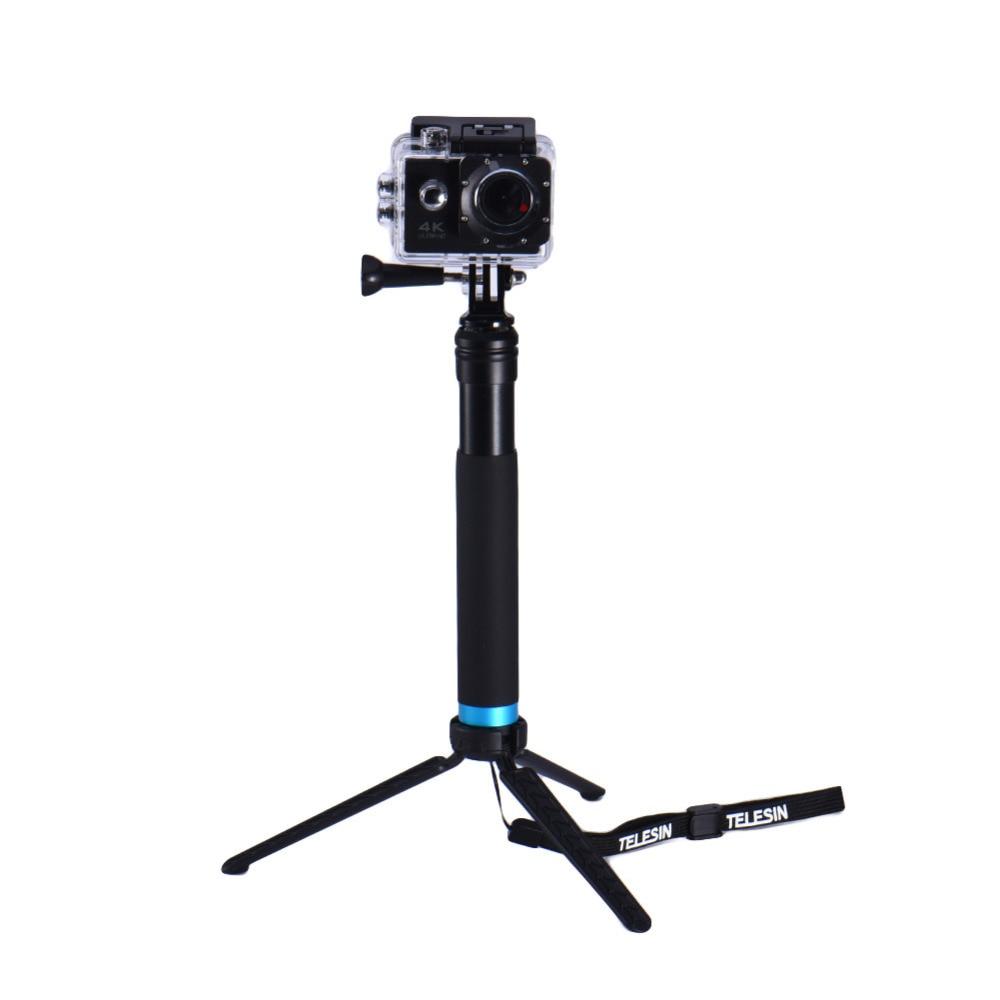 TELESIN Waterproof Monopod Tripod Extendable Monopod Selfie Stick Monopod for xiaomi yi 4 Gopro hero 4 5