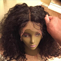 Kinky Curly Silk Top Full Lace Wigs Human Hair With BabyHair Curly Silk Top Human Hair Lace Front Wig Black Women Silk Base Wigs