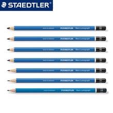 Staedtler-100 Mars Lumograph sketch painting Wood pencil 4 pcs/lot F/6H/5H/4H/3H/2H/H/B/2B/3B/4B/5B/6B/7B/8B