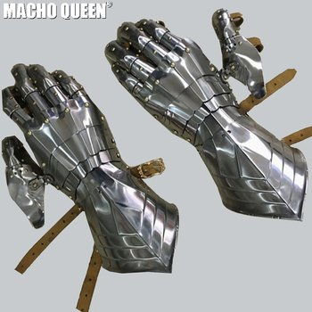 Burning man CostumesCombat Gauntlets Gothic Style Gothic Armor Fantasy Medieval Gauntlets Festival Metal Glove