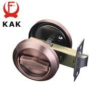 KAK Oculta Puerta Cerraduras Mango De Acero Inoxidable Empotrada Gabinete Tirón Invisible Hardware de Bloqueo Mecánico Al Aire Libre Para la Prueba de Fuego