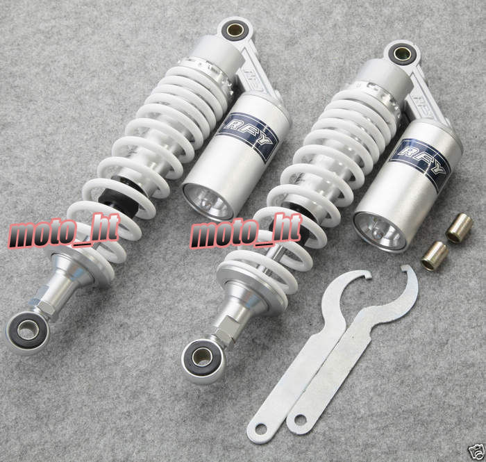 Universal 320mm 12.5 Rear Air Bushing Shock Absorbers Suspension for Honda Replacement CX500 GL500 650, White Color