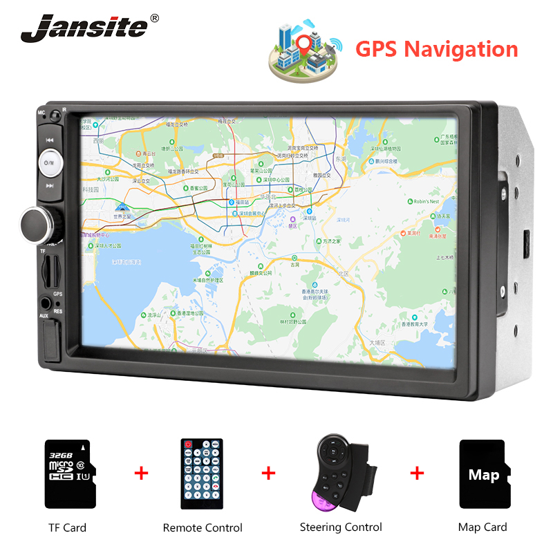 Jansite vehicle radio 7 inch HD car audio MP5 multimedia Steering wheel controller GPS navigation map