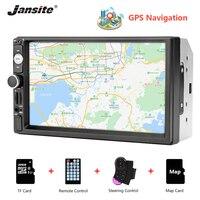 Jansite vehicle radio 7 inch HD car audio MP5 multimedia Steering wheel controller GPS navigation map Bluetooth Reverse image