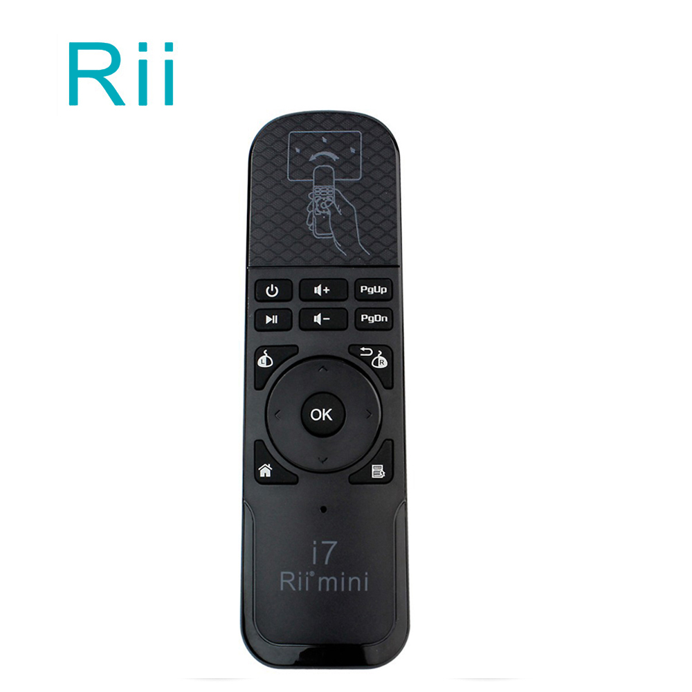 10pcs/DHL Wholesale Rii i7 Mini Air Mouse 2.4GHz Wireless Built-in 6 Axis Sensing Motion Gaming Remote Control for Smart TV Box