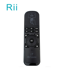 10pcs DHL Wholesale Rii i7 Mini Air Mouse 2 4GHz Wireless Built in 6 Axis Sensing