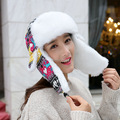 Wholesale Fashion Earflap Design Women's Bomber Trapper Hat White Faux Fur Knitting Deers Christmas Russian Hats