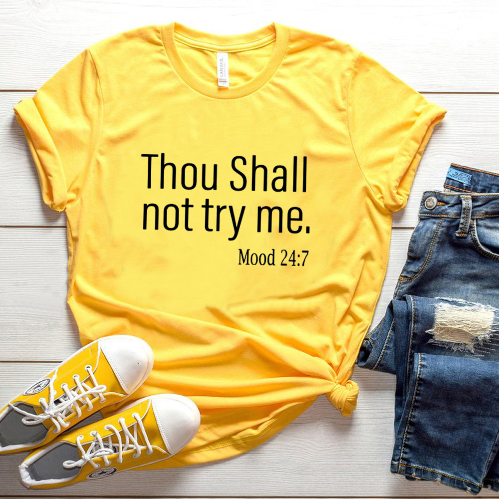 Tu Não Deve Tentar Me Camisa de Algodão T do Gráfico para As Mulheres Meninas Bonito Novas Mulheres top camiseta Humor Fun Beber mangas curtas slogan