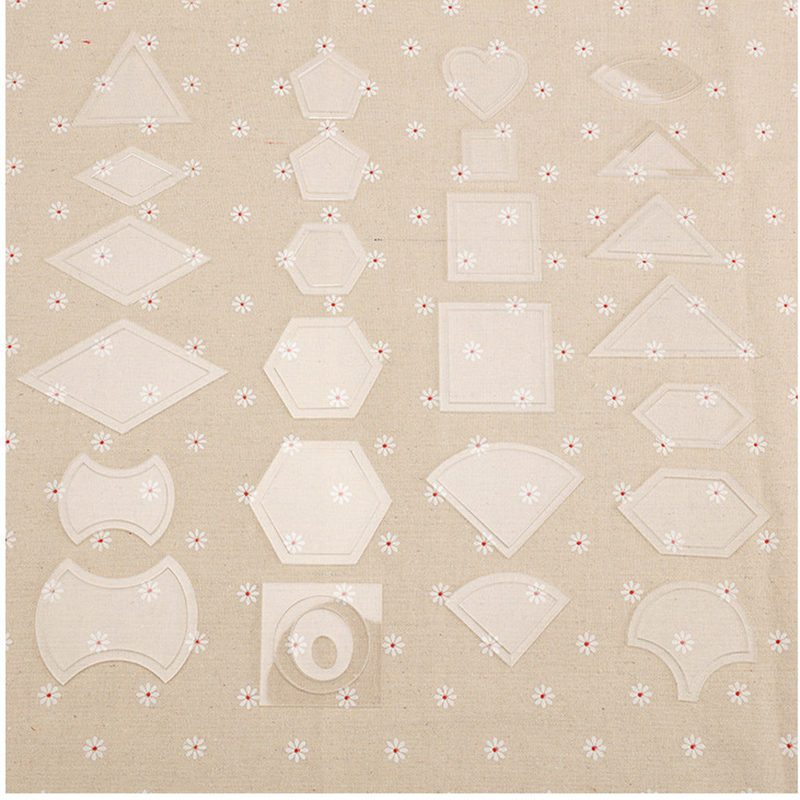 54 stücke Mixed Acryl Quilt Vorlagen Handarbeit Patchwork Quilter ...