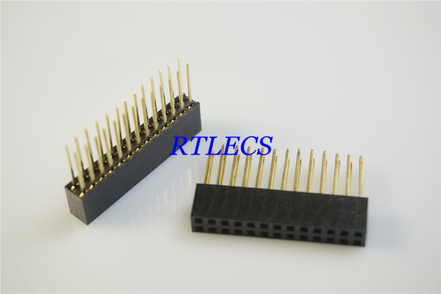 100 pcs 2 54 mm 0 100 Pitch 2x13 Pin 26 position 2 Rows PCB Female
