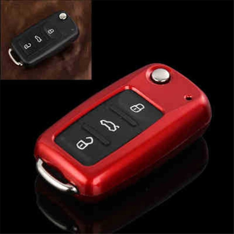 peacekey Abs Key Case Shell For Vw Polo Passat B5 Golf 4 5 6 Jetta Mk6 Tiguan Plus Eos Scirocco Beetles Fob Cover For Skoda Octa