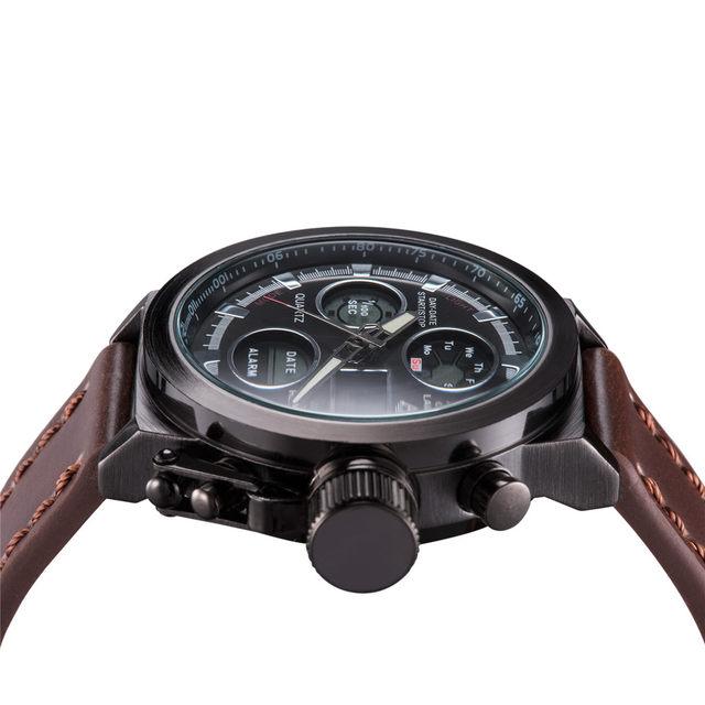 305b1355009 Mens Steampunk Relógios Logotipo ASJ Top Marca de Luxo Homens De Quartzo  Masculino Relógio Digital LEVOU Assistir Militar Sport Watch relogio  masculino