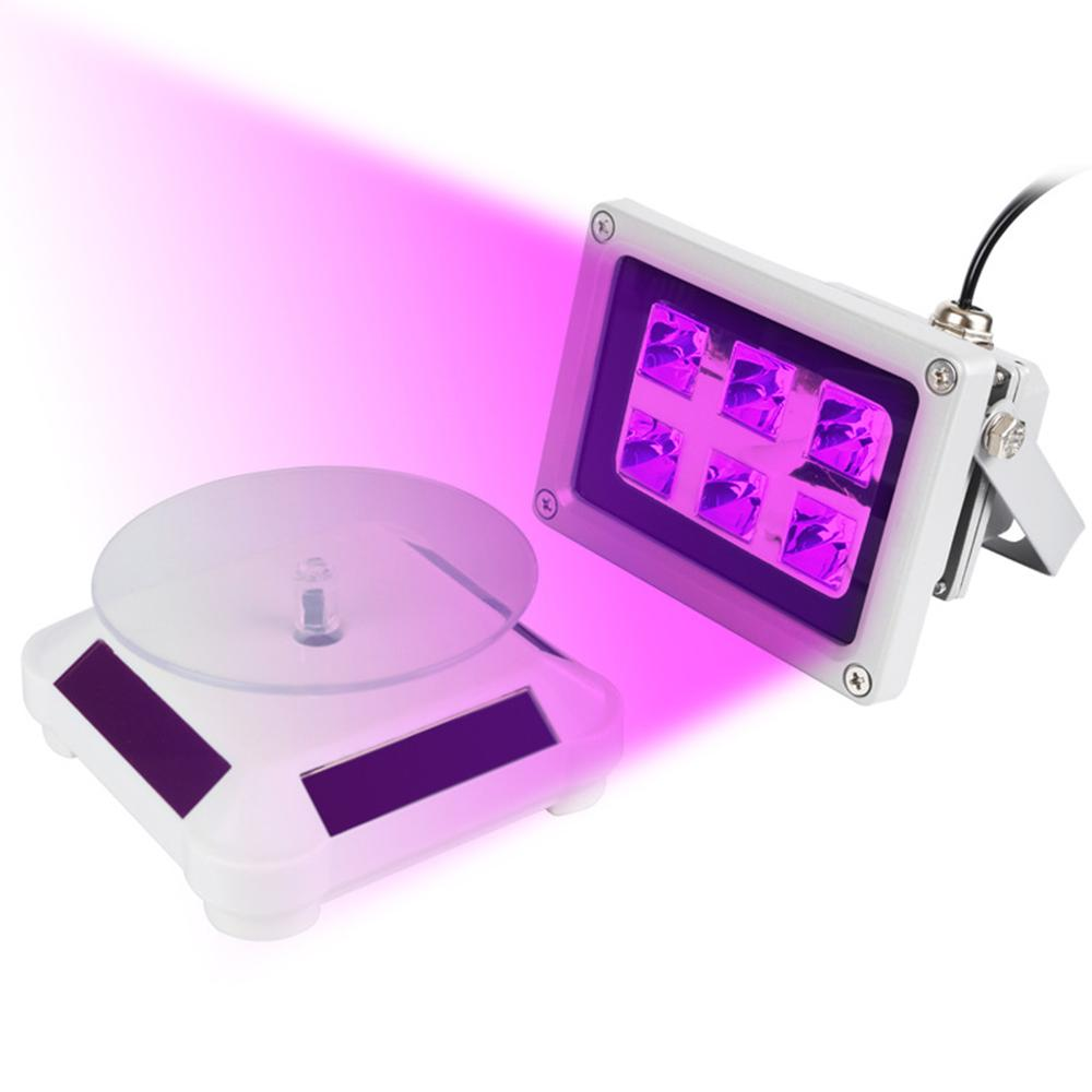 60W UV Resin Solidify Photosensitive Curing Light Solar Powered Rotary Display Stand Turntable Kit for SLA