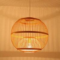 Японский стиль подвесные светильники бамбука клетку чайник магазин абажур Юго Восточной освещения сферическая творческие огни za627 zl122