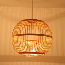 Japanese style pendant lamps bamboo cage tea pot shop lampshade southeast lighting spherical creative lights ZA627 ZL122