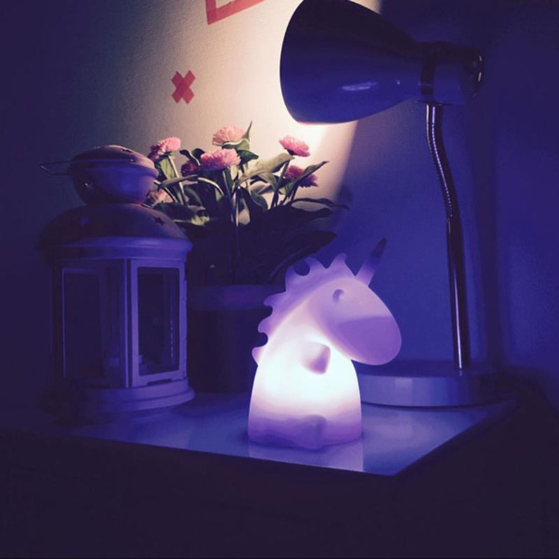 Cute Baby Bedroom Unicorn Lamps Night Light Cartoon Pets Sleep Kids Lamp Night light Gifts for