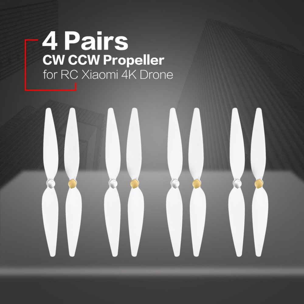 4 Pairs 10inch For RC Xiaomi 4K Propeller White Pervane Drone Blade Propeller Accessories For Xiaomi Mi Drone 4k  Propeller