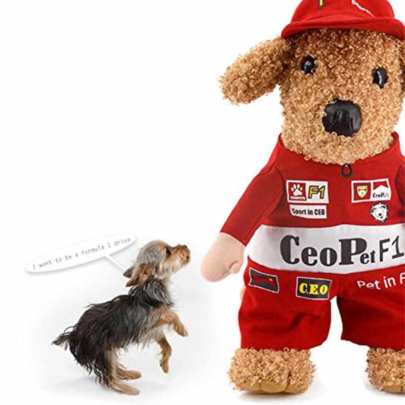 Gomaomi Pet костюм для кошки, собаки F1 гонщика рубашки с капюшоном для маленьких мальчиков; комбинезон для девочек; забавные пальто