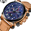 LIGE Men Watchs Top Brand Luxury Quartz Business Watches Mens Casual Leather Waterproof Sport Wrist Male