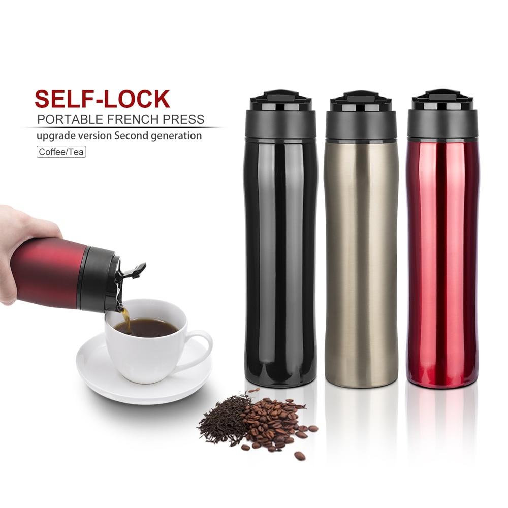 Portatile Infusori e accessori macchina per il Caffè Tazza di 350 ml In Acciaio Inox BPA Libero di Filtrazione di Acqua di Isolamento per Tè e Caffè Per Il Viaggio