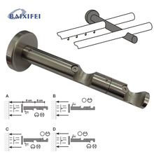 2 Pcs D20mm Curtain Rod Decorative Multifunctional  Double Bracket, Curtain Accessories Bracket for Window Decoration