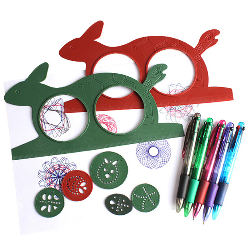2020 Spirograph Magic Turtle Rabbit Sketchpad Kids Gift Drawing Board Educational Toys Mat Magic Pen Educational Toy