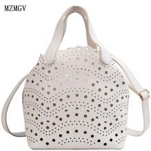 Womens new trend 2019 Korean version of the treasures fashion 2pc hollow handbags Hong Kong wind shoulder diagonal bag