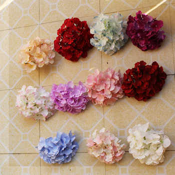 20pcs/lot silk Hydrangea flower head big size wedding flowers wall decoration Bride bouquet Accessories 54pcs petal composition