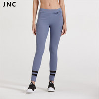2017 New Spring Bule 2 Stripe Yoga Leggings Godness Ribbed Bow Knot Sports Yoga Pants Breathable