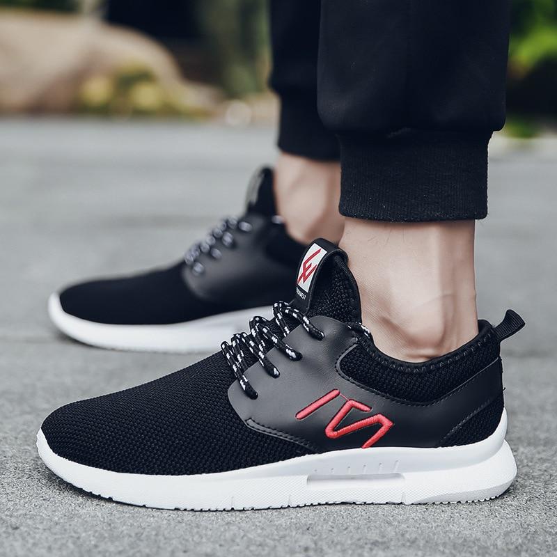 Non Autumm Respirant rouge Sneakers Cuir Air Noir Printemps en Décontractées Lacets Mesh Concise gris À Hommes Lettre Chaussures q7Px4wvT4