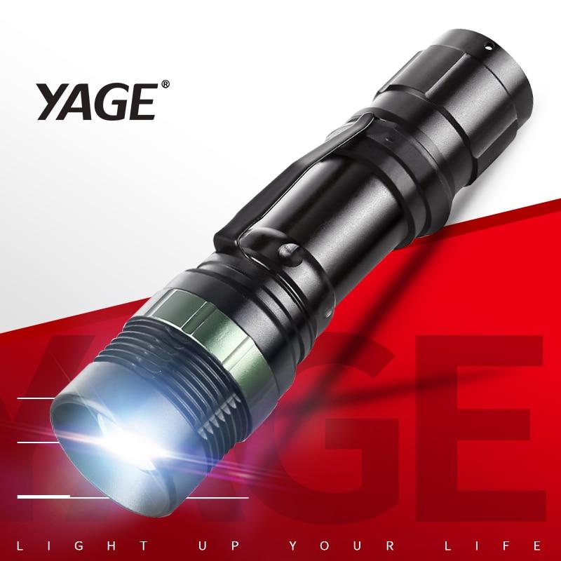 YAGE YG-338C 2000LM Aluminium kalis air Zoom Cree LED Klip Lampu - Lampu mudah alih