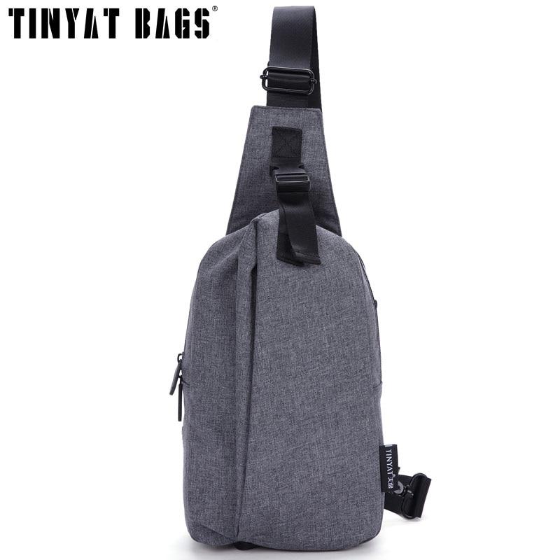 TINYAT Shoulder Bags For Men Waterproof Chest Pouch Sling Bag Anti-Thief Man Portable Messenger handbag T610
