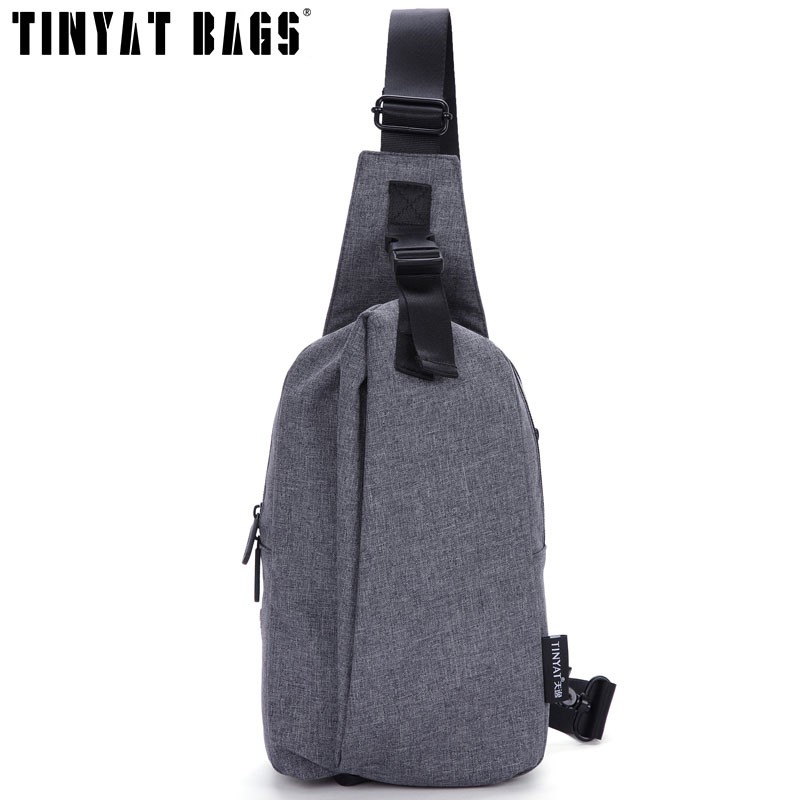 Tinyat negro bolsas de hombro pecho impermeable bolsas hombre bolsa bolso de la