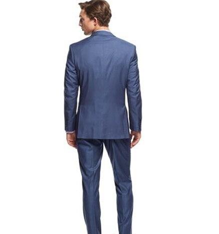 custom Trois Image Made Entaillé Smoking Costume Masculino Terno Marié Pièce The Slim De Gilet Pantalon Deux Fit Bouton Costumes Hommes Revers Mariage As veste Bleu qxgSOBw