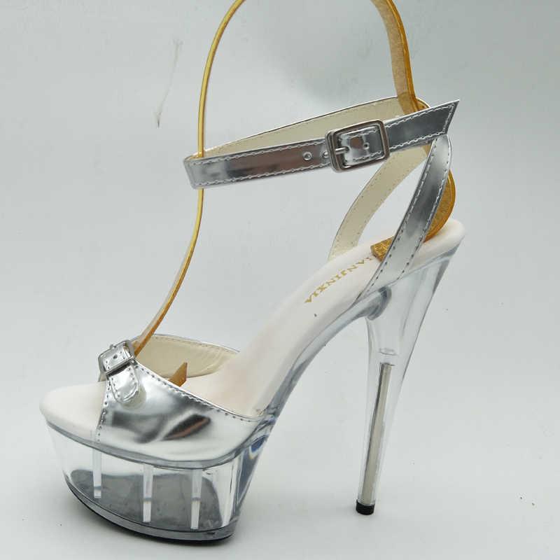 54ac6204f146 ... LAIJIANJINXIA Super High Heels 15 cm High Nightclub Sexy Sandals  Platform Shoes Stage Model Fashion Runways ...