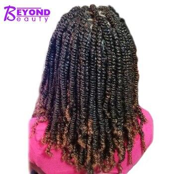 Beyond Beauty Spring Twist Hair Extensions Black Brown Burgundy Ombre Crochet Braids Kanekalon Synthetic Braiding Hair 8