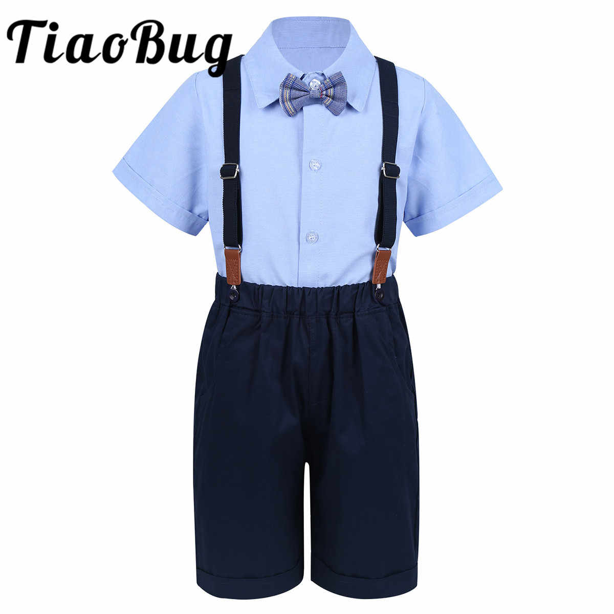 Flower Boys Wedding Suits Kids Groom Tuxedos Children Suits Party 4pcs Suits Boys Gentleman Outfit Lapel Shirt Tops with Bowtie