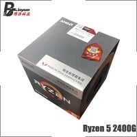 AMD Ryzen 5 2400G R5 2400G 3.6 GHz Quad-Core Eight-Thread CPU Processor L3=4M 65W YD2400C5M4MFB Socket AM4 New and with fan