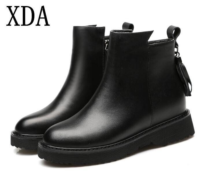 5f706889eb Outono Senhoras Mulheres Moda F675 2019 Inicialização Botas Sapatos Ar  Algodão Apartamentos Fringe Vintage Xda Livre Ankle ...