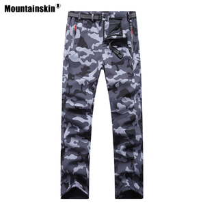 Image 4 - 2020 New Winter Men Women Hiking Pants Outdoor Softshell Trousers Waterproof Windproof Thermal for Camping Ski Climbing RM032