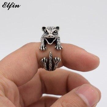Кольцо Elfin, регулируемое, винтажное, для мужчин и женщин